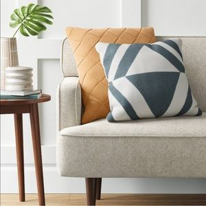 Oversized Basket Weave Square Throw Pillow